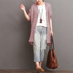 Casual Solid Cotton&Linen Cardigan