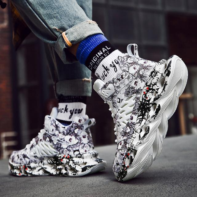 2020 Graffiti High Top Chunky Sneakers