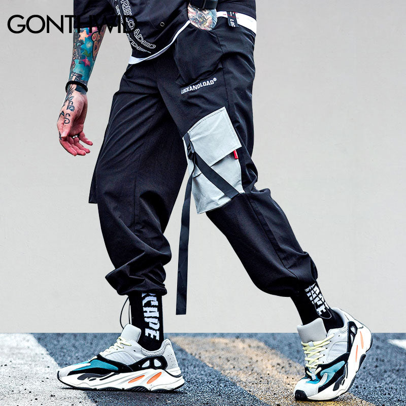 Mens Casual Baggy Pockets Cargo Harem Pants