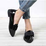 Women Bowtie Patent Leather  Loafers
