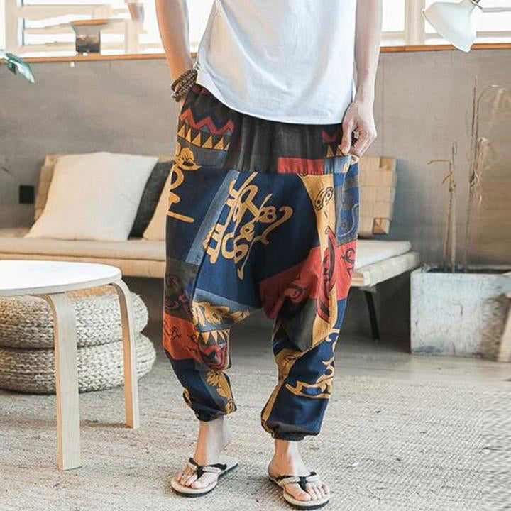 New Hip Hop Baggy Cotton Linen Harem Pants