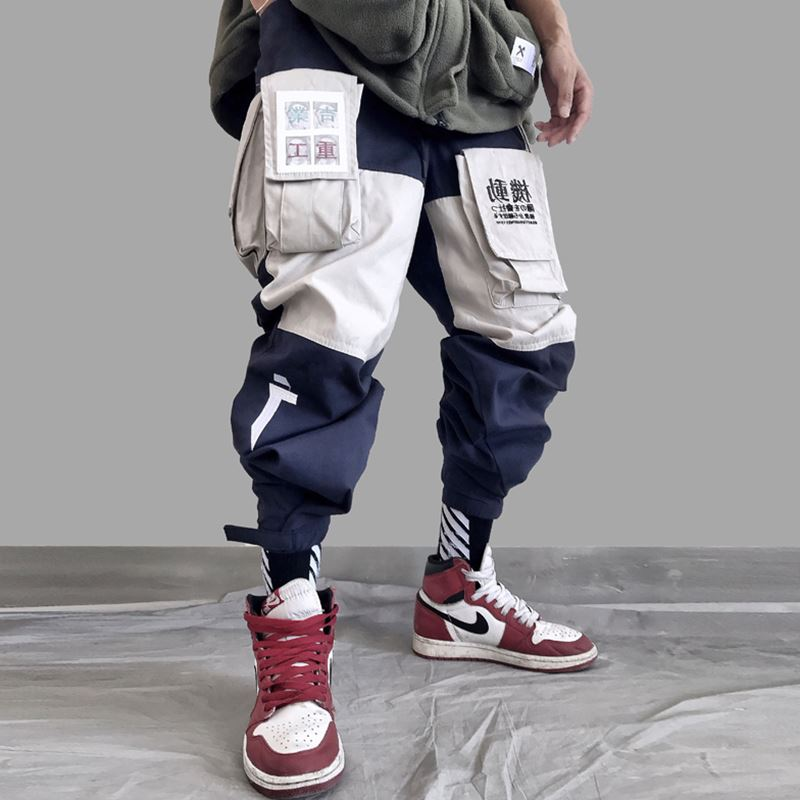 Pockets  Letter Embroidery  Cargo Pants