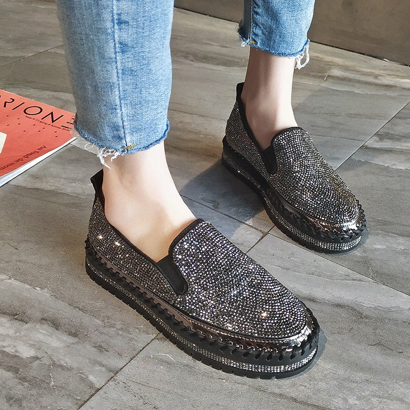 Casual Sparkling Slip-on Loafers Shoes