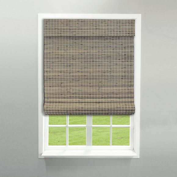 Radiance Cordless Privacy Weave Roman Shade, Driftwood - New