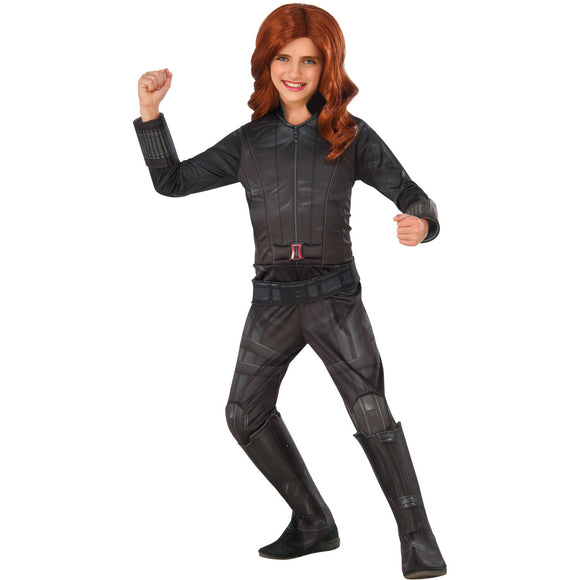 Girl's Deluxe Black Widow Halloween Costume, Size Small - New