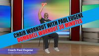Chair Workout Strength Training with Dumbbells