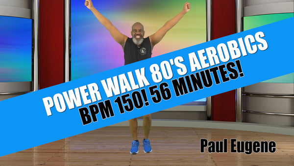 Power Walk March 80's Aerobics 56 Minutes