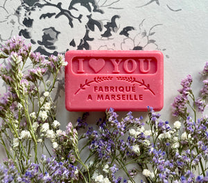 I Love You French Soap