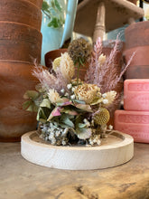 Pink Pampas Dried Floral Bell Jar