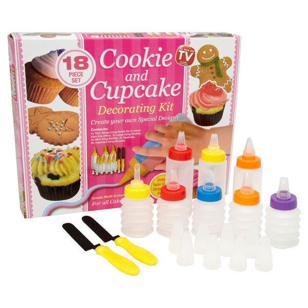 Cookie and Cupcake Decorating Kit 18 Piece Set