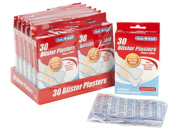 30PC BLISTER PLASTERS IN COLOUR BOX