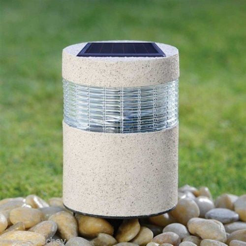 Stone Effect Solar Post Light