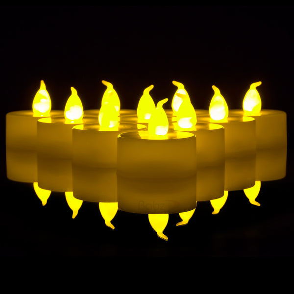 12 x LED Flickering Tea Lights
