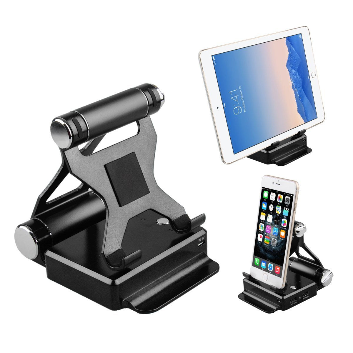 Foldable Gadget Stand With Built in Powerbank