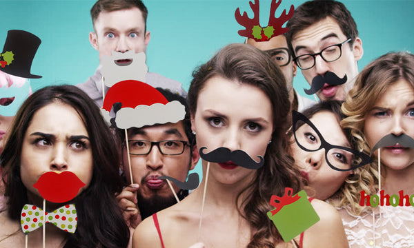 17Pc Christmas Party Photo Booth Set