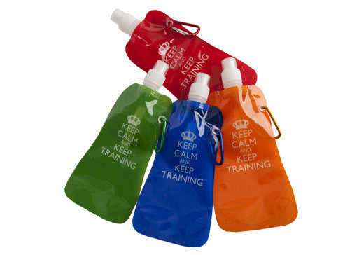 Keep Calm Folding sports bottle with Carabiner