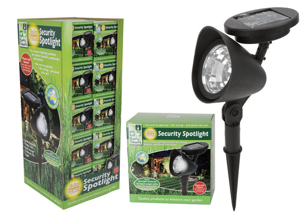 3 LED SOLAR POWERED SECURITY SPOT LIGHTS
