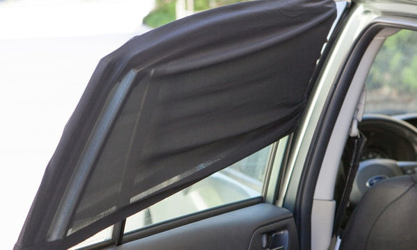 2pc Universal Car Window Mesh Sun-Shade Screen Set