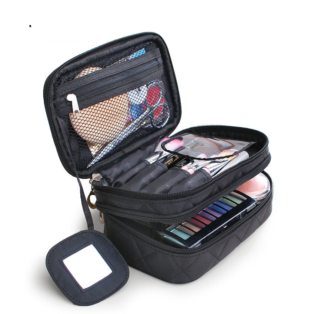Two-Layer Cosmetic Organiser with Mirror