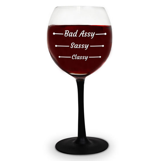 THE BAD ASSY WINE GLASS