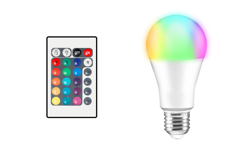 LED Colour Changing Light Bulbs with Remote Control