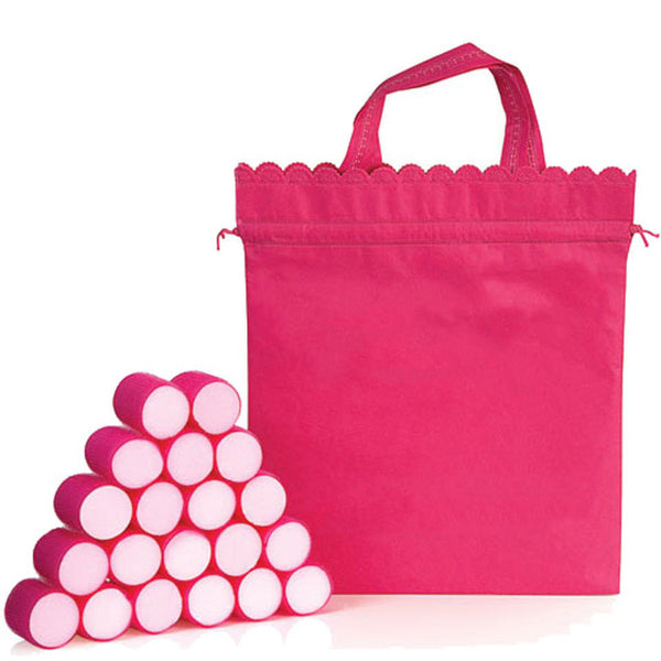 20 Pack Pink Velcro Hair Rollers