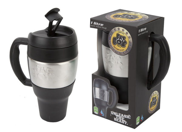 Ethos Fatboy Colour Giant Travel Mug, 34oz Black