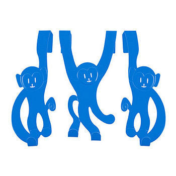 Set Of Three Monkey Door Hanger Hooks
