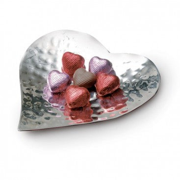 Silver-Plated Heart Dish