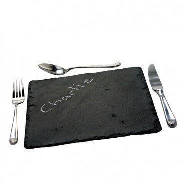 A set of natural Slate Place Mats