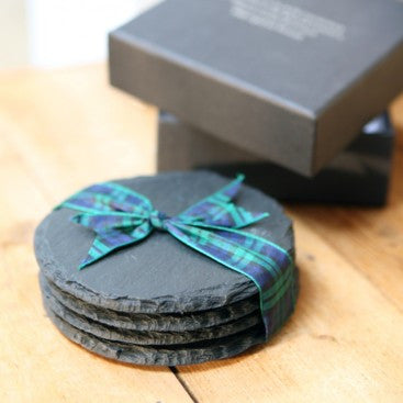 Natural Slate Coasters in Gift Box