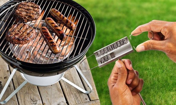 Custom BBQ Branding Iron with Removable Letters
