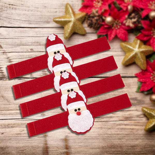 4 Pack Santa Claus Napkin Rings