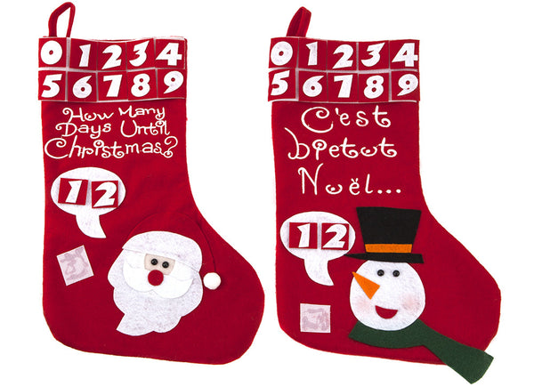 Days Till Xmas Stocking