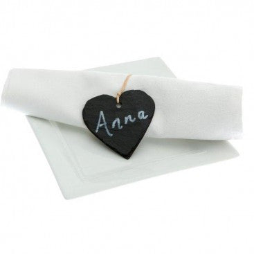 Slate Heart Napkin Rings