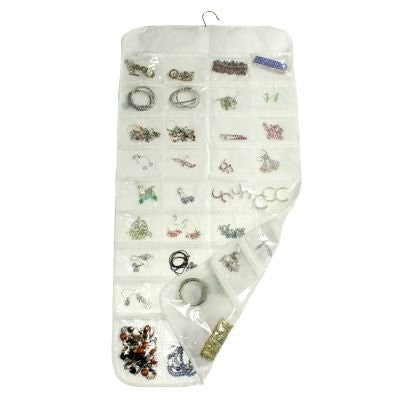 Hanging Jewellery Organiser Double Sided With 72 Pockets