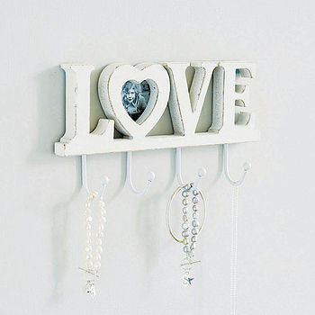 Wooden 'Love' Letter Hooks With Heart Frame