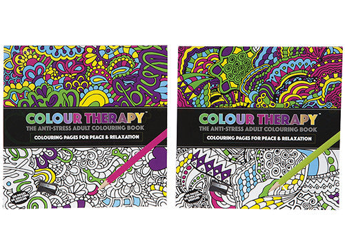 Colour Therapy Anti-Stress Adult Colouring Book