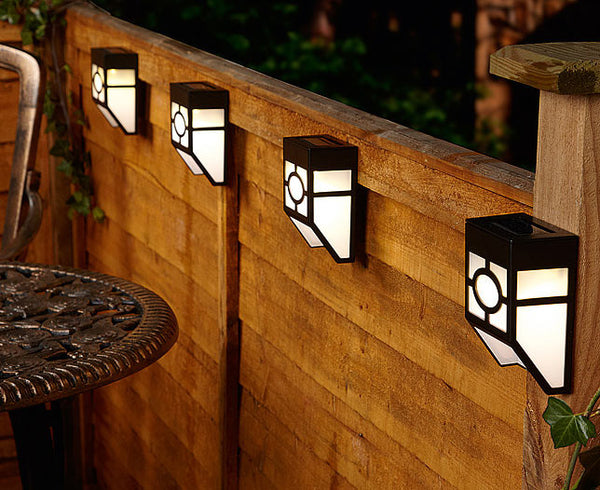 Solar or Battery Fence Lights 2 Pack