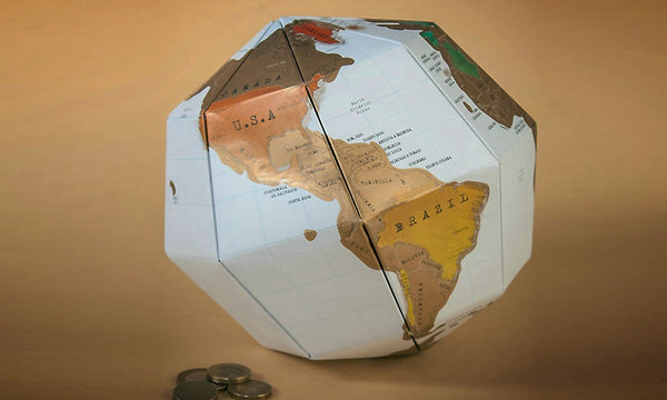 3D World Map Scratch Globe