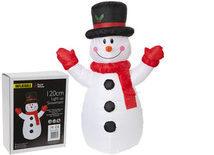Open image in slideshow, Inflatable Snowman
