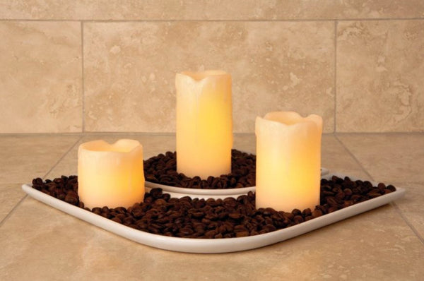 Melted pillar flameless candle giftset
