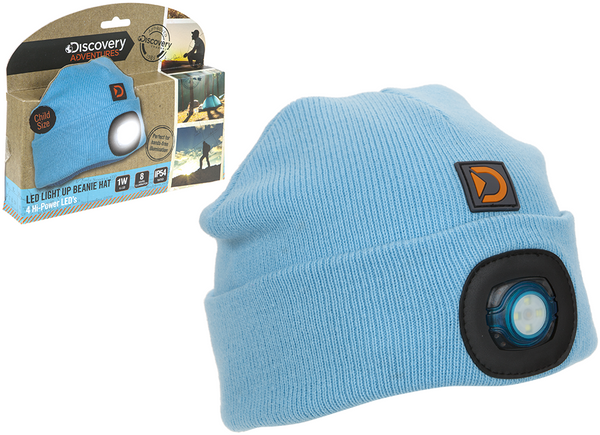 Discovery Adventures Adult or Kids LED Torch Beanies