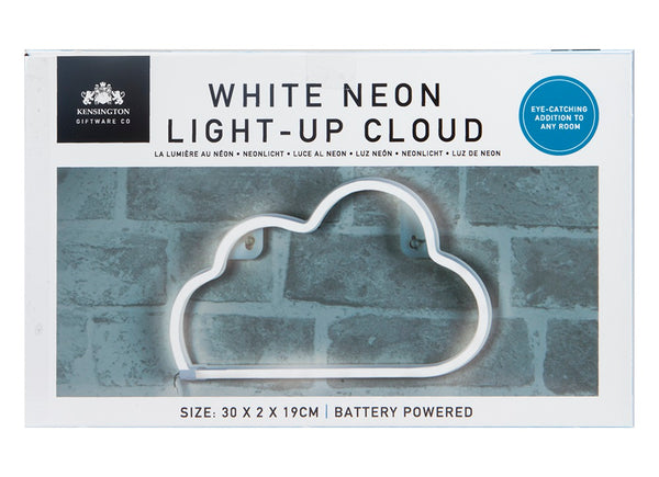 WHITE CLOUD HANGING NEON LIGHT