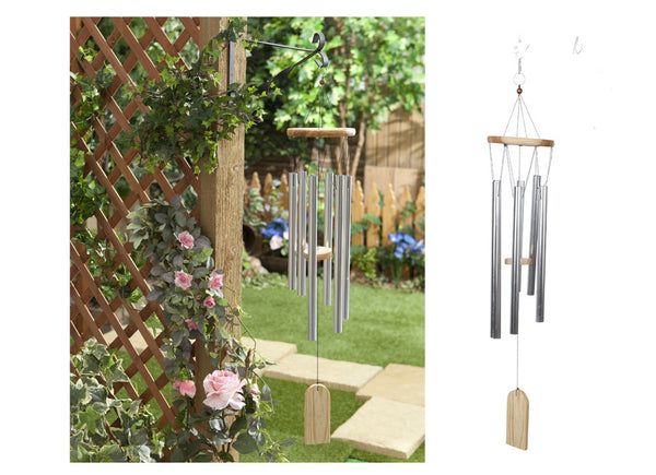 LARGE WOOD/METAL GARDEN WINDCHIME