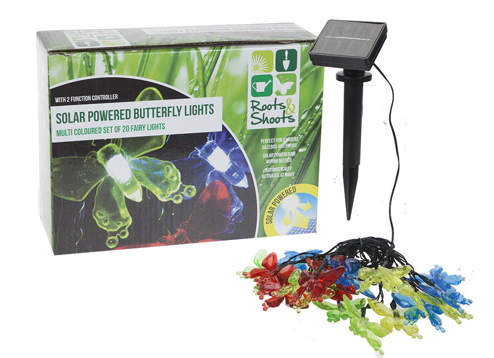 SET OF 20 SOLAR GARDEN THEME LIGHTS