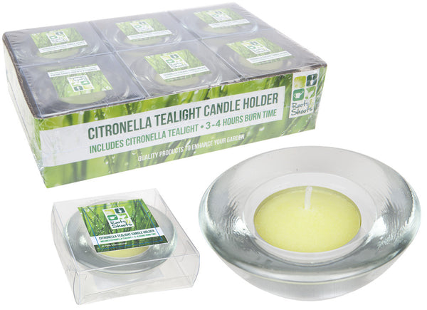 CITRONELLA TEA LIGHT CANDLE HOLDER ACETATE