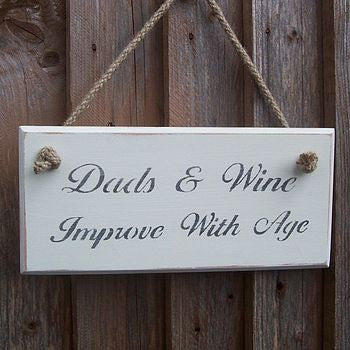 Dads and Wine' Plaque