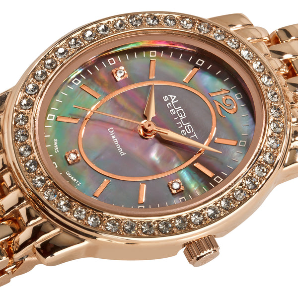 August Steiner Women's AS8043 Dazzling Diamond Oval Bracelet Watch