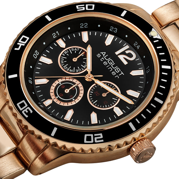 August Steiner Men's AS8059 Quartz Multi-Function Divers Bracelet Watch